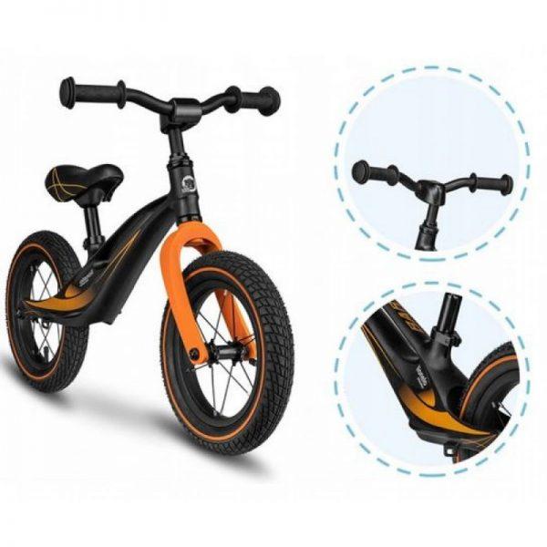 lionelo-bart-air-balance-bike-loopfiets-magnesium-sporty-zwart-oranje (2)